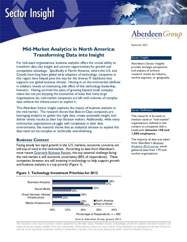 Midmarket Analytics in North America: Transforming Data into IAnsight