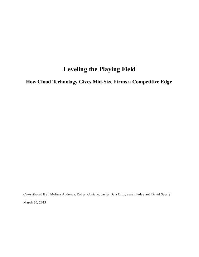 Leveling the Playing FieldHow Cloud Technology Gives Mid-Size Firms a Competitive EdgeCo-Authored By: Melissa Andrews, Rob...