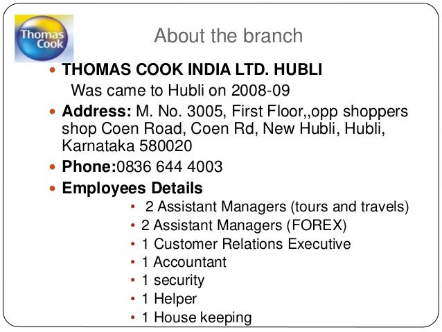 Thomas cook india ltd forex