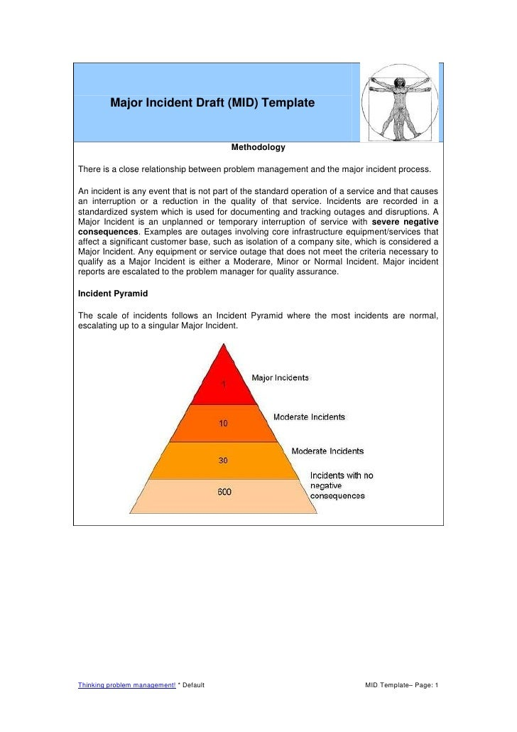 Major Incident Draft (MID) TemplateMethodologyThere is a close relationship between problem management and the major incid...