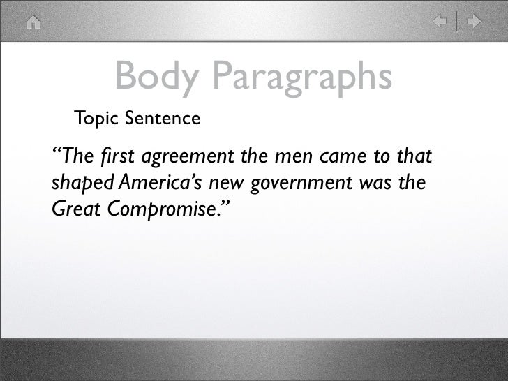 Great compromise essay