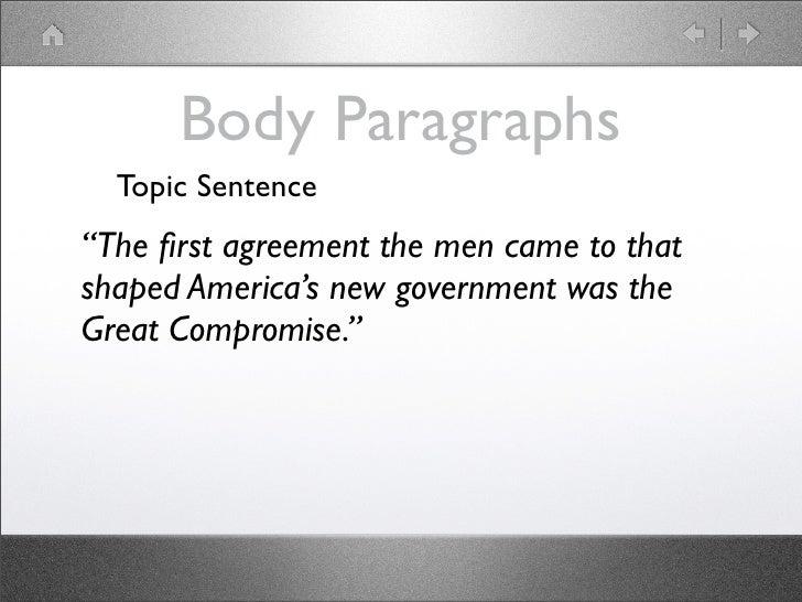 Essay in a sentence