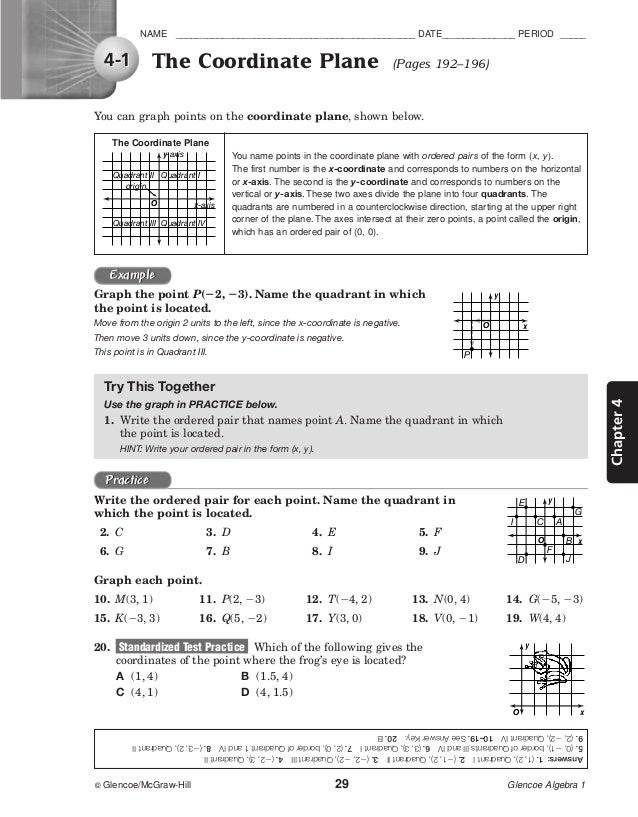 Glencoe algebra 2 worksheet answers chapter 5