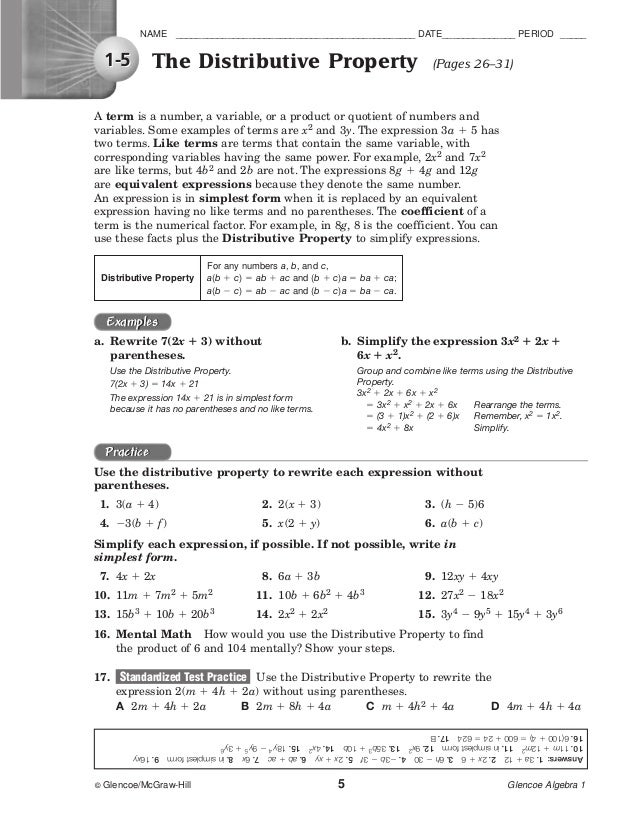 glencoe algebra 1 worksheet answers Quotes