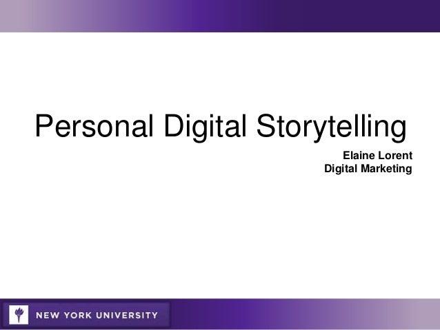 Digital storytelling: A tutorial in 10 easy steps