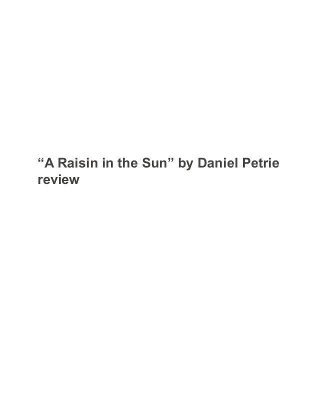 A raisin in the sun essays