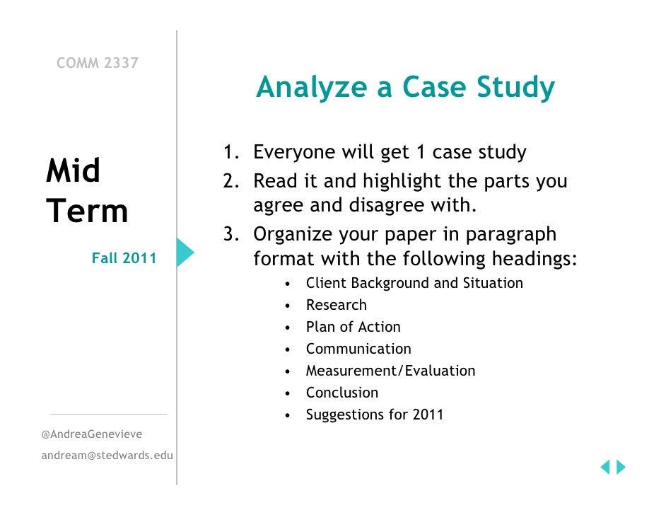 PR Case Study Mid-Term