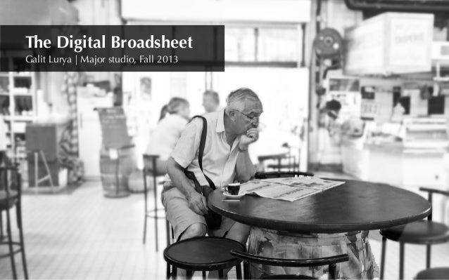 Galit Lurya | Major studio, Fall 2013 The Digital Broadsheet