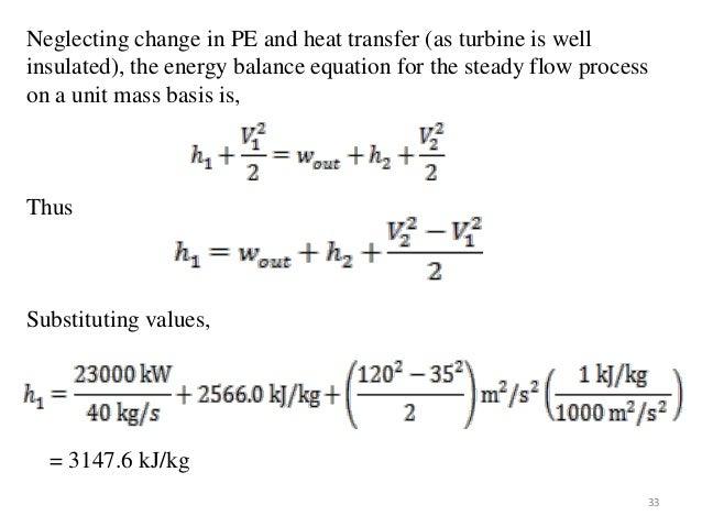 Energy Balance Thermodynamics Energy Balance Equation