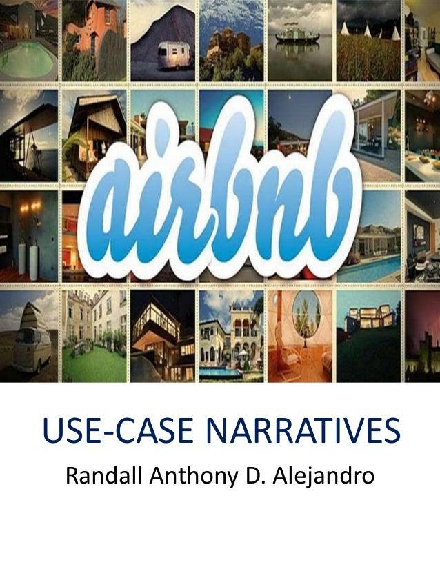 USE-CASE NARRATIVES Randall Anthony D. Alejandro