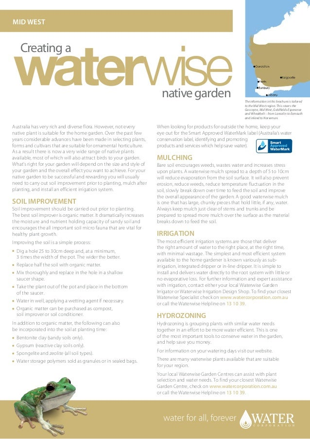 Mid West Australia: Creating A Waterwise Native Garden - Water Corporation