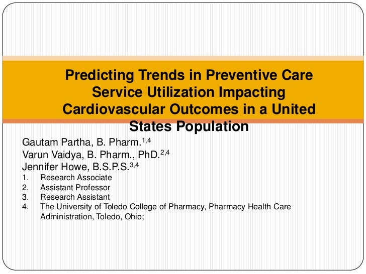 Predicting Trends in Preventive Care Service Utilization Impacting Cardiovascular Outcomes in a United States Population