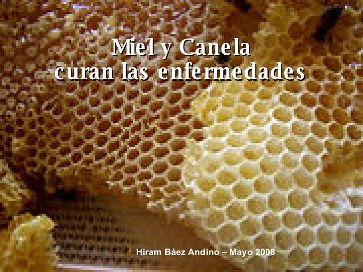 Miel y Canela curan las enfermedades Hiram Báez Andino – Mayo 2008