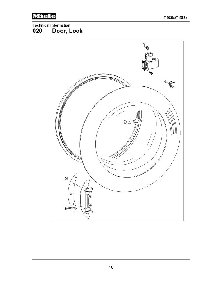 Miele Gas Dryer T9820 Service Manual