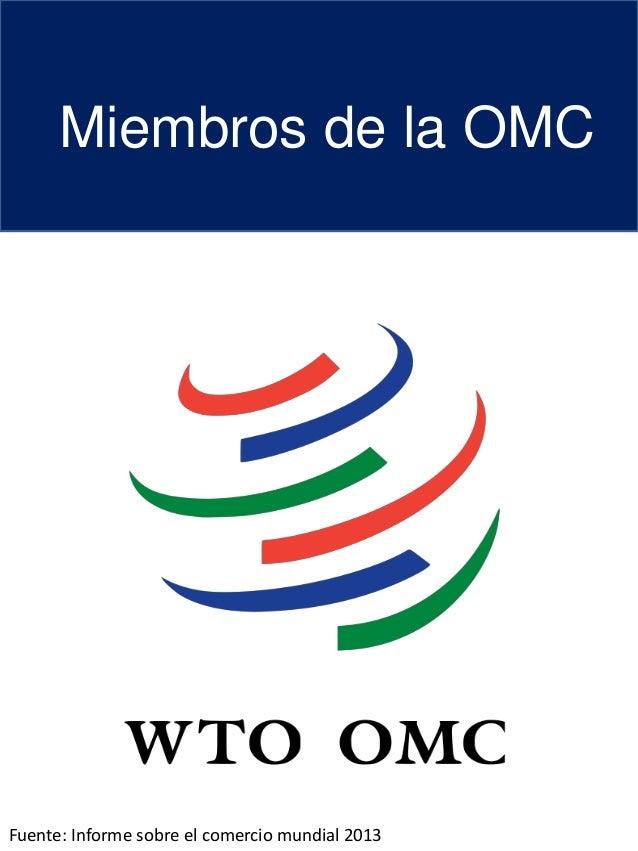Miembros de la OMC   2013
