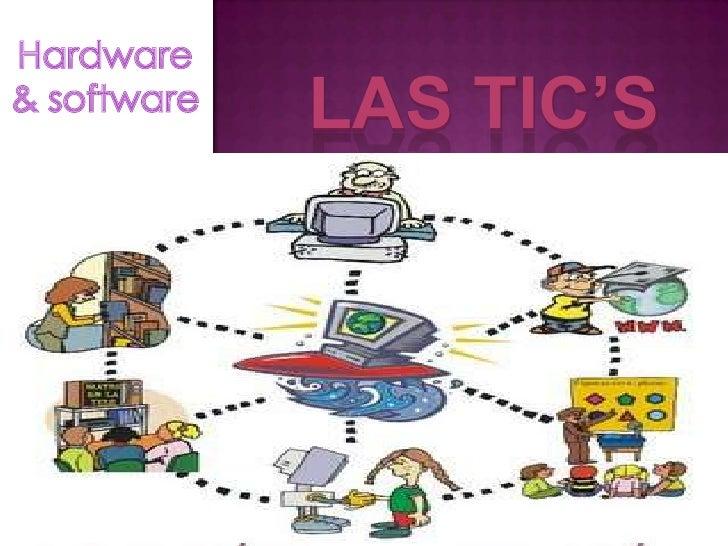 LAS TIC'S<br />Hardware & software<br />Escriba aquí el texto<br />