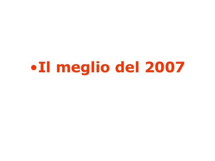 Migliori2007