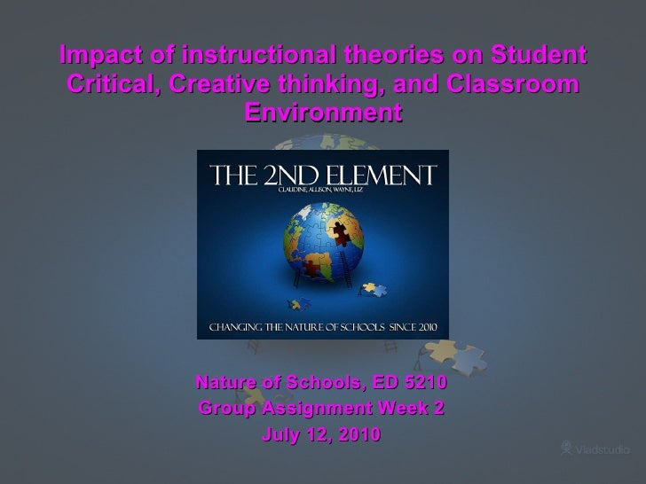 Impact of instructional theories on Student Critical, Creative thinking, and Classroom Environment <ul><li>Nature of Schoo...