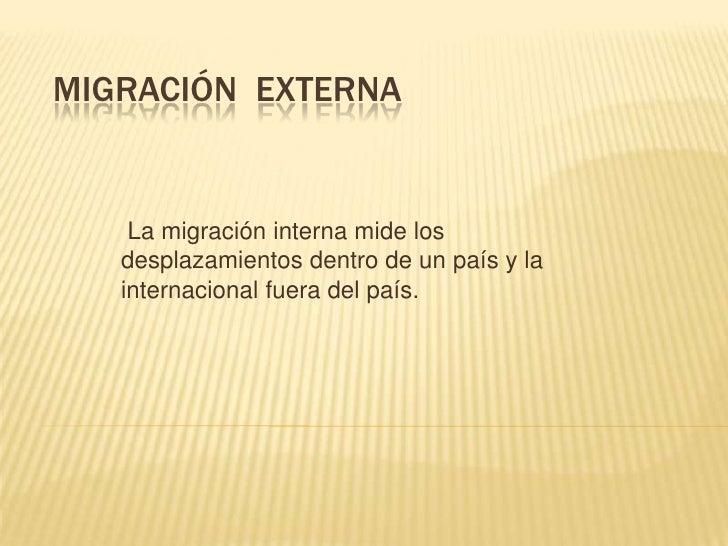 Migraci n for Que significa exterior