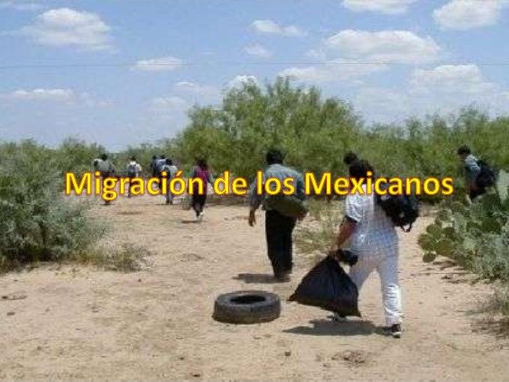 Migración de los mexicanos