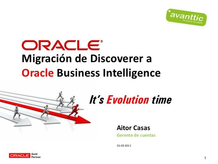 Migración Discoverer a Oracle BI
