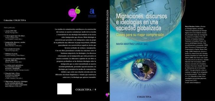Migraciones, discusos e ideologías en una sociedad globalizadora