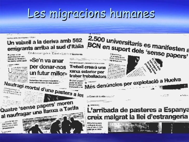 Les migracions humanes