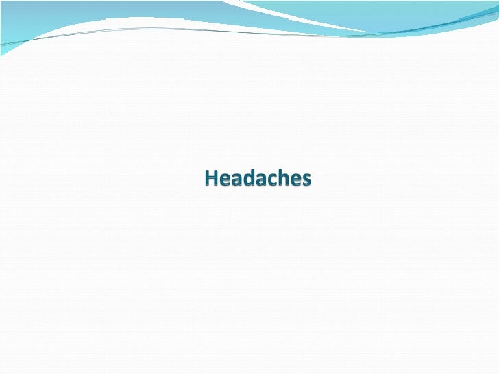 Headaches Lecture