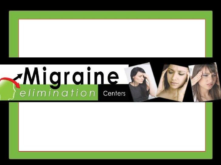 Migraine Prevention - Migraine Elimination Centers
