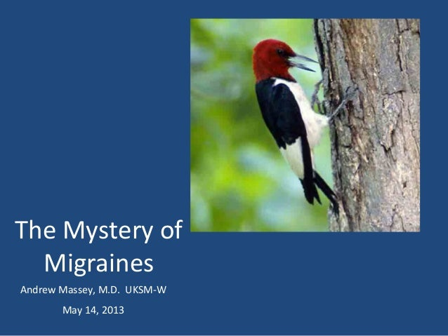 The Mystery ofMigrainesAndrew Massey, M.D. UKSM-WMay 14, 2013