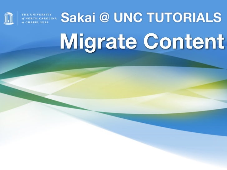 Migrate Content from Bb to Sakai