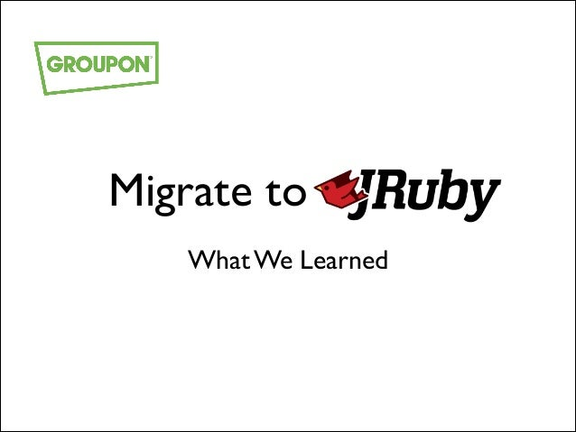 Migrate to JRuby