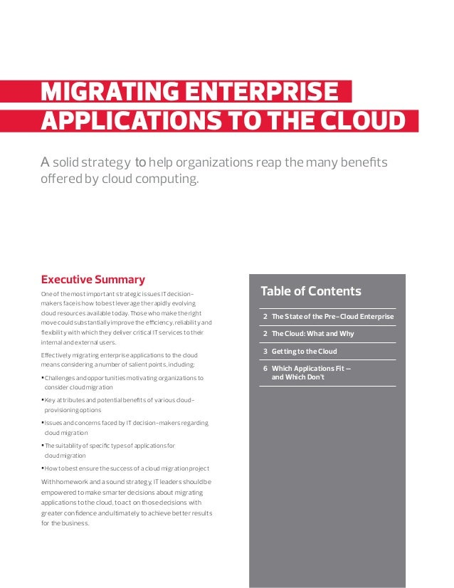 enterprise applications move to the cloud Beyond cost savings and business model shifts, there are 10 new reasons to move your on-premises erp into the cloud.