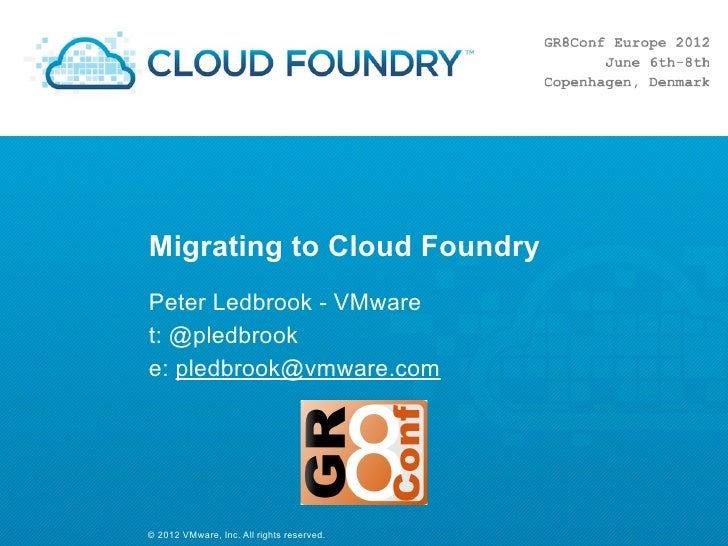 Migrating to CloudFoundry