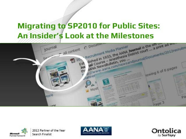 Migrating to SP2010 for Public Sites:An Insider's Look at the Milestones