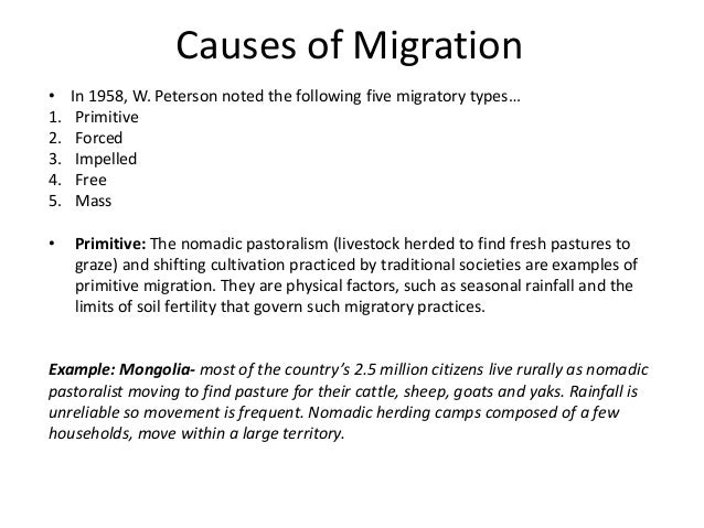 causes of voluntary migration Addressing the root causes of forced migration: a european union policy of containment channe lindstrom september 2003 ameliorate the migration pressure - be it voluntary or forced - towards the developed world.