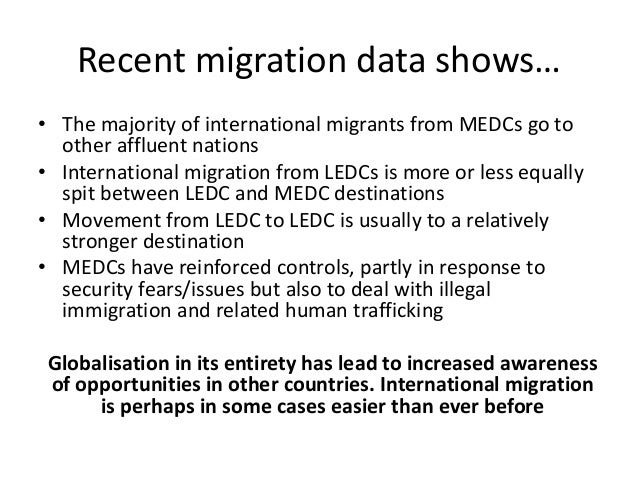 Causes of migration essay