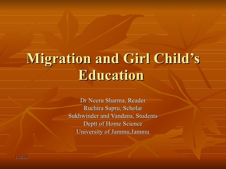Migration and girl child's education