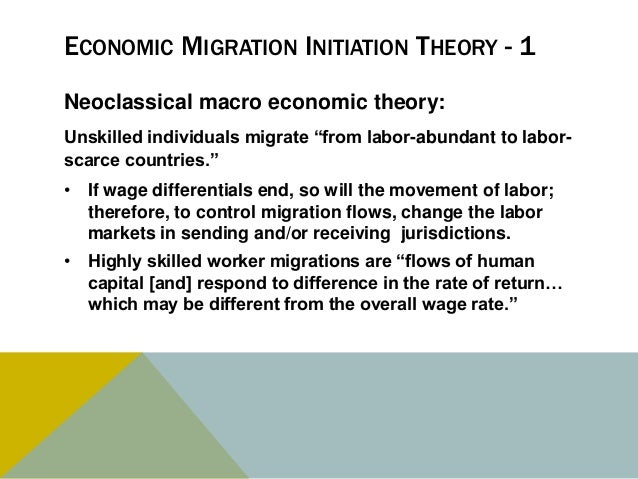 Theories on global migration?