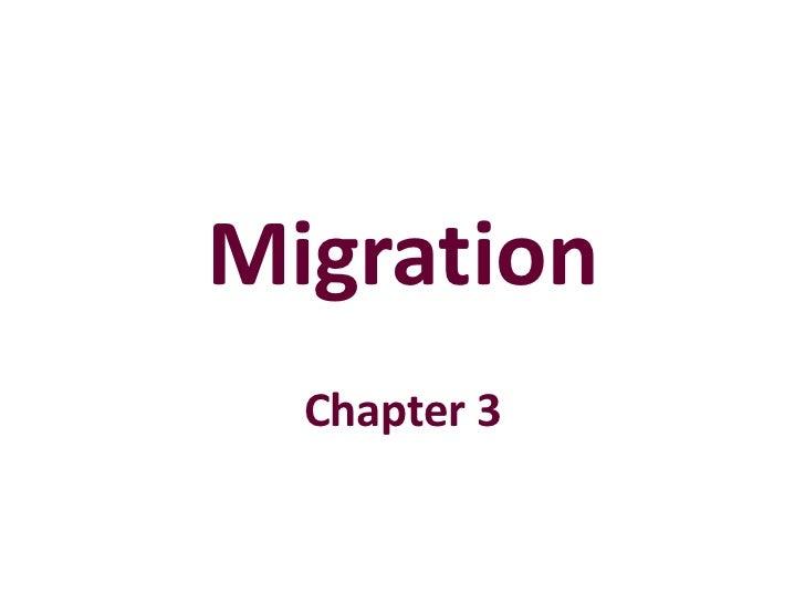 Migration part 1