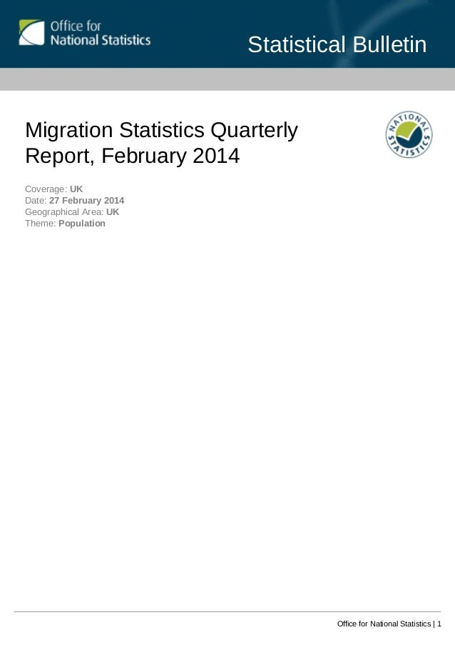Migration statistics quarterly