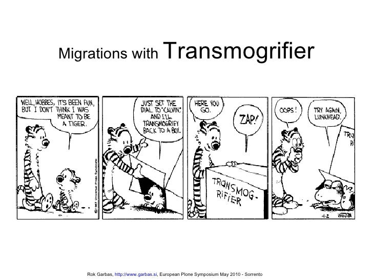 Migrations With Transmogrifier