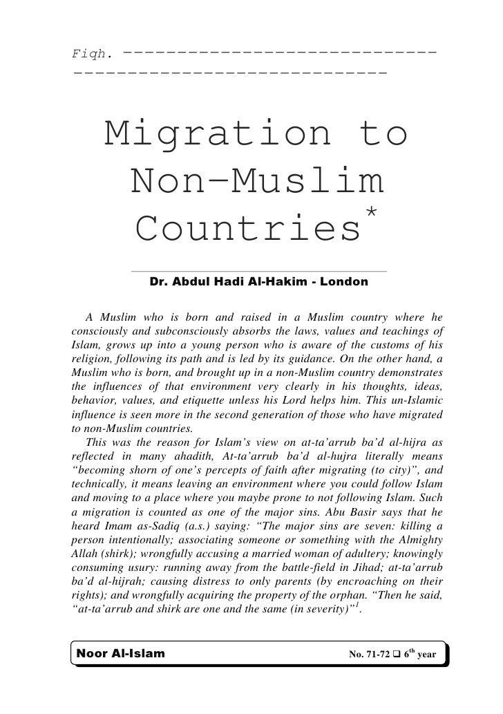 Fiqh.----------------------------- -----------------------------         Migration to        Non-Muslim                  *...