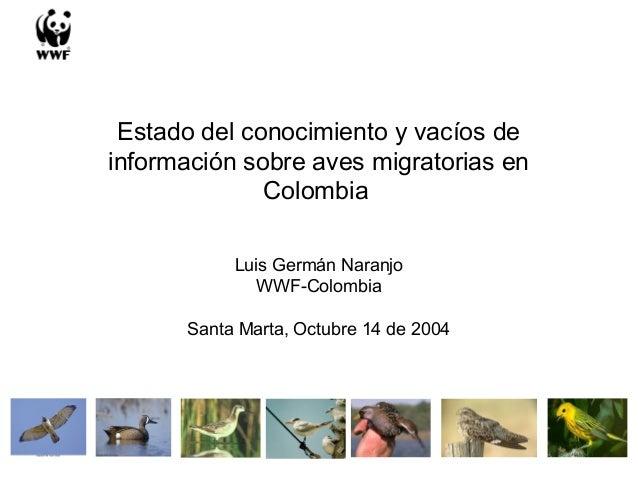 Estado del conocimiento y vacíos de información sobre aves migratorias en Colombia