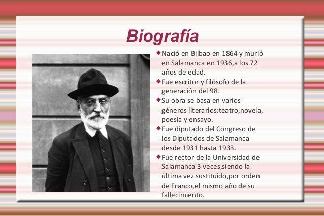 Miguel de Unamuno biografia