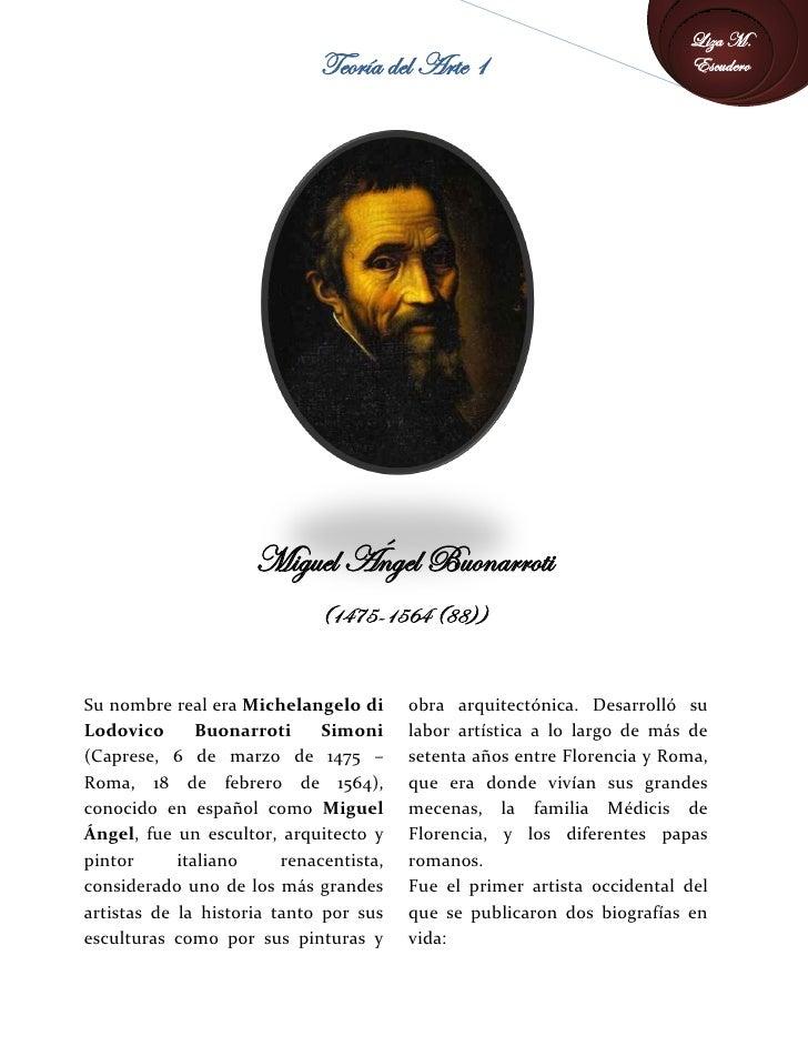 Liza M.                              Teoría del Arte 1                            Escudero                          Miguel...