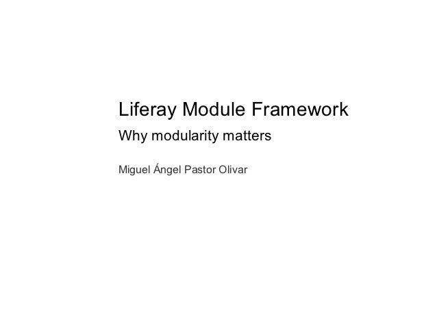 Liferay Module Framework