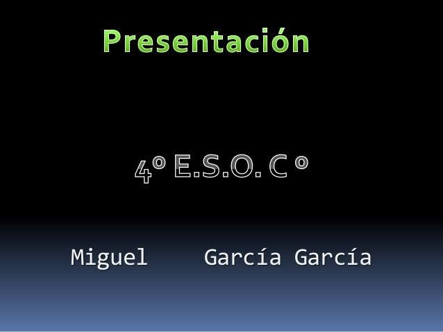 Miguel  García García