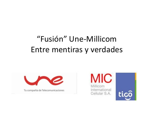 """Sesión """"Fusión UNE - Millicom"""": Presentación Miguel Andrés Quintero"""
