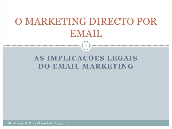 As implicações legais do Email Marketing
